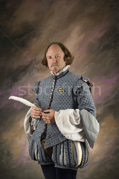 Shakespeare with feather pen. Stock photo © iofoto