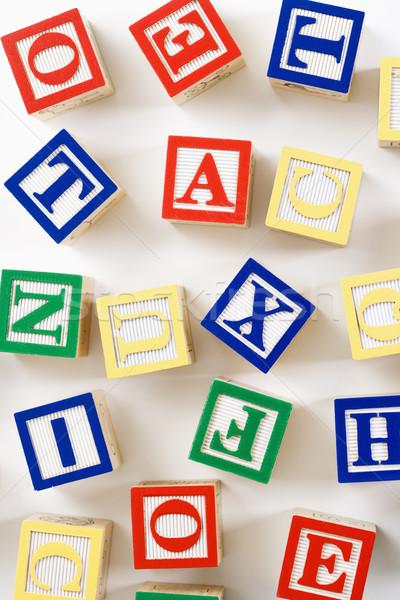 ábécé építőkockák épület játékok oktatás csoport Stock fotó © iofoto