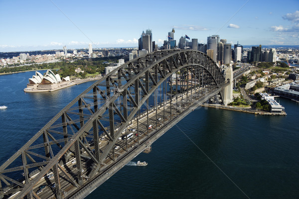 Antenne shot haven brug luchtfoto Sydney Stockfoto © iofoto