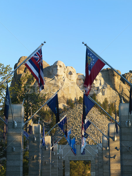 Mount Rushmore with flags. Stock photo © iofoto