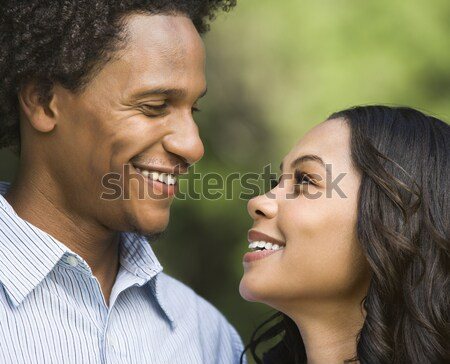 Smiling couple portrait. Stock photo © iofoto