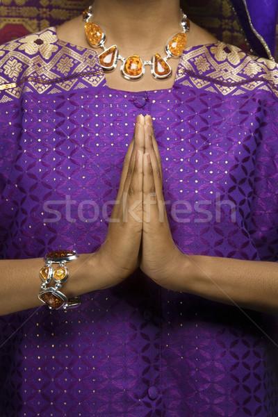 Сток-фото: женщину · африканских · платье · портрет · молиться