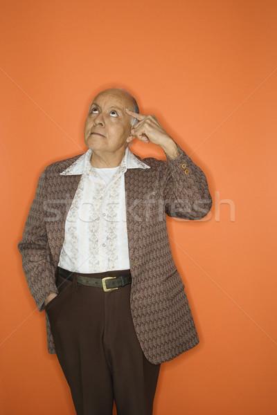 Adam Retro takım elbise kafkas yetişkin olgun Stok fotoğraf © iofoto