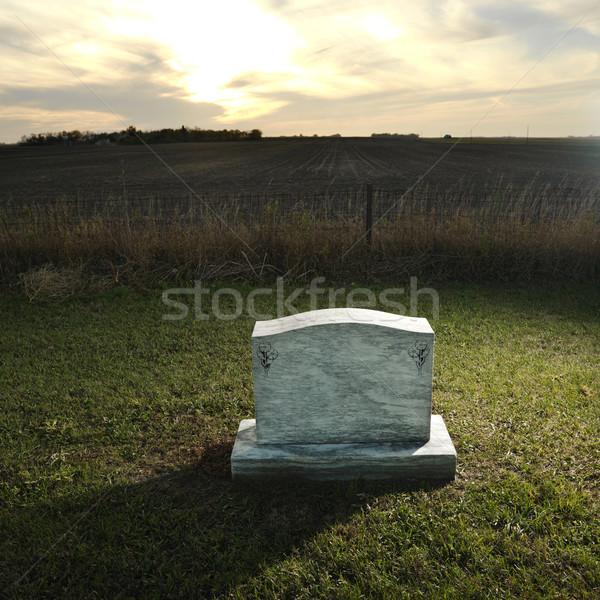 Headstone on rural grave. Stock photo © iofoto