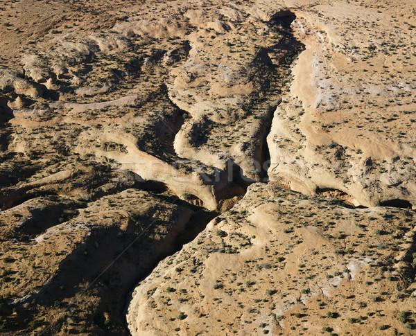Antenne zuidwest landschap Arizona woestijn textuur Stockfoto © iofoto
