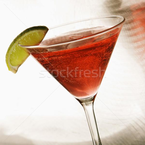 Natürmort Martini karışık içmek ahududu meyve Stok fotoğraf © iofoto