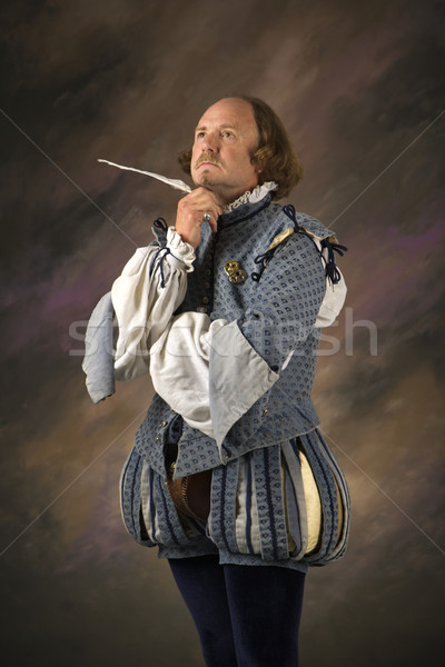 Shakespeare thinking with quill. Stock photo © iofoto