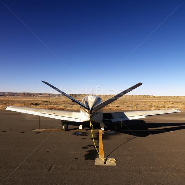 Pequeño avión pista aeropuerto campo Utah Foto stock © iofoto