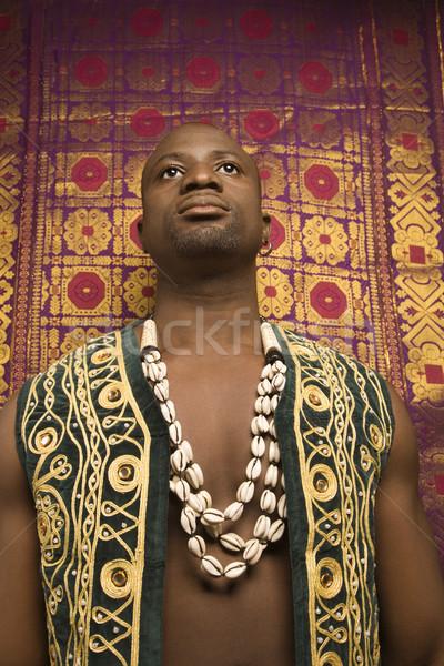 Foto stock: Homem · africano · roupa · retrato