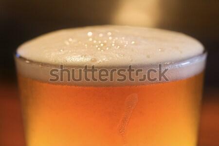Foam on Glass of Beer Stock photo © iofoto