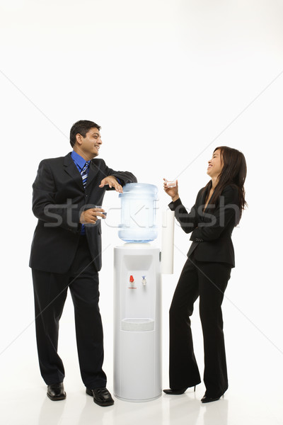 Water cooler talk. Stock photo © iofoto