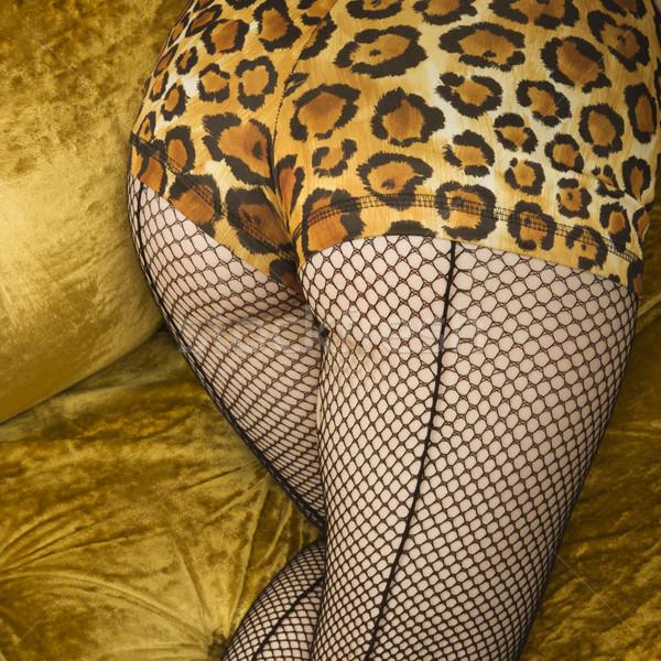 女性 魚網 ストッキング 魅力的な 白人 ストックフォト © iofoto