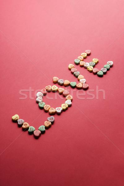 Foto stock: Dulces · ortografía · fuera · amor · colorido · corazones