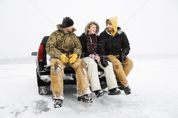 Three People Having a Beer Stock photo © iofoto
