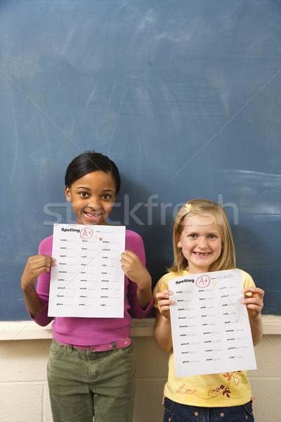 Zdjęcia stock: Studentów · klasie · młodych · pisownia · dobre