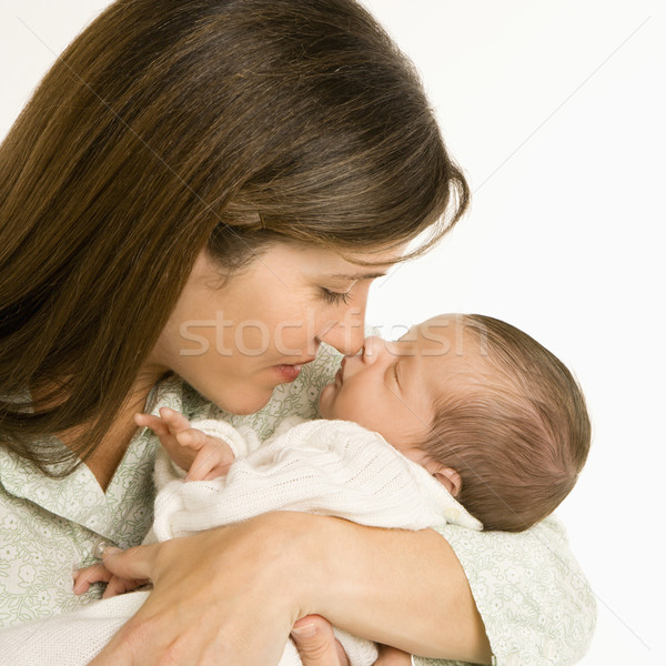 Mother holding baby. Stock photo © iofoto