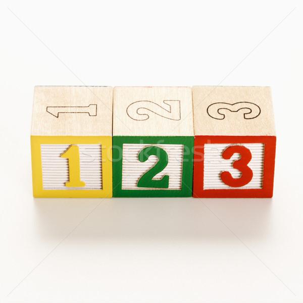 Numbered toy blocks. Stock photo © iofoto