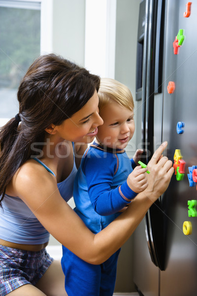 Mom with child. Stock photo © iofoto