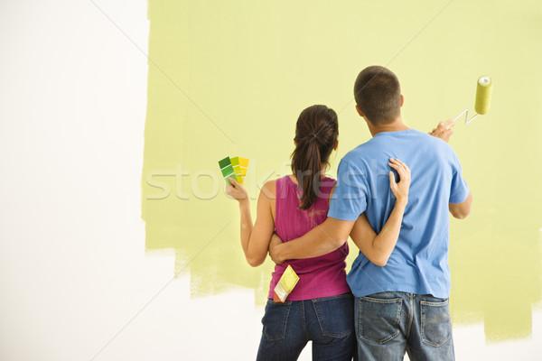 Couple painting home. Stock photo © iofoto