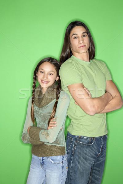 Irmã irmão retrato menina adolescente menino Foto stock © iofoto