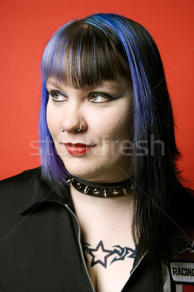 Portrait of Caucasian woman. Stock photo © iofoto