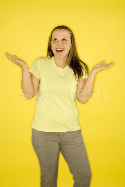Mujer espalda femenino caucásico pie Foto stock © iofoto