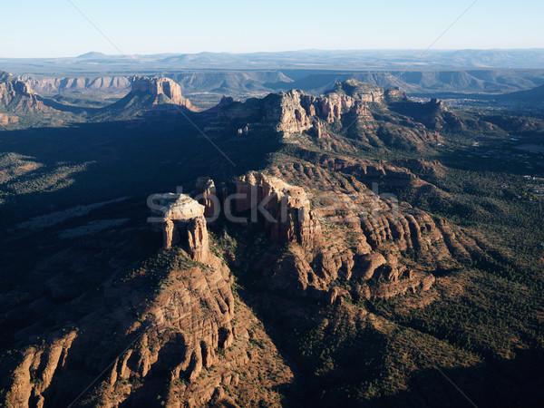 Rot Felsen Arizona Luftbild rock Auge Stock foto © iofoto
