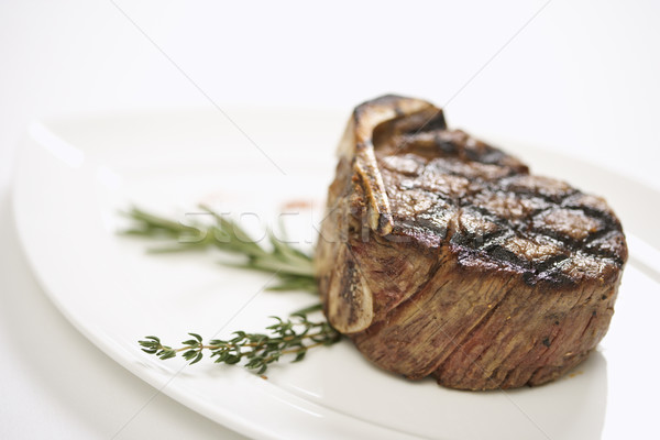 Grilled beef tenderloin. Stock photo © iofoto