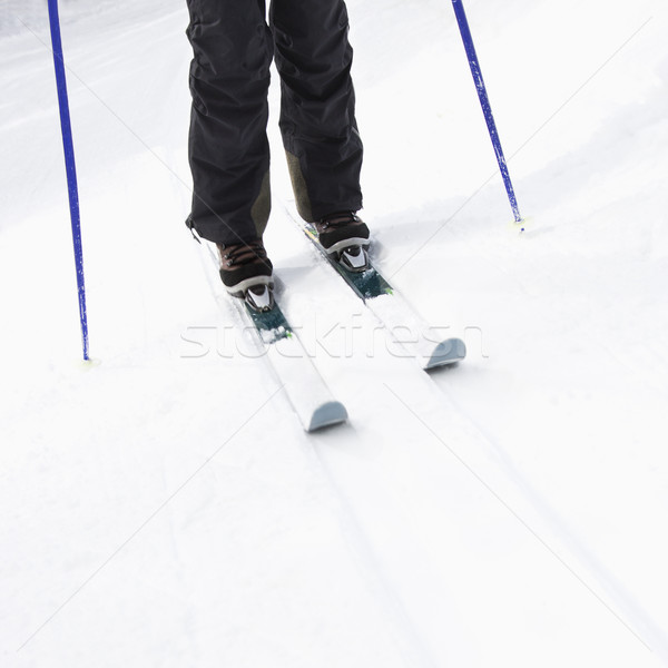 Skier legs on slope. Stock photo © iofoto