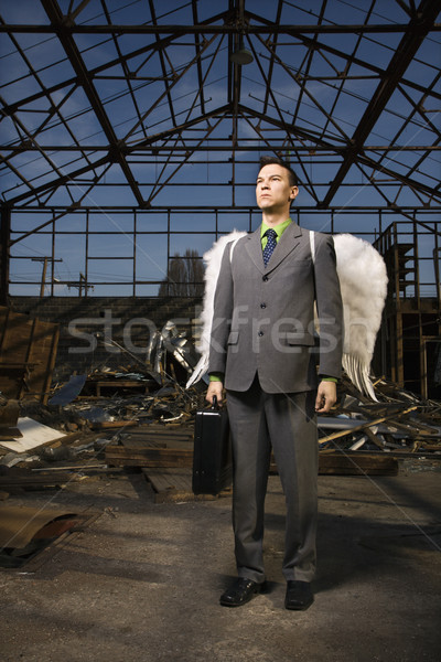Businessman With Angel Wings Stock photo © iofoto