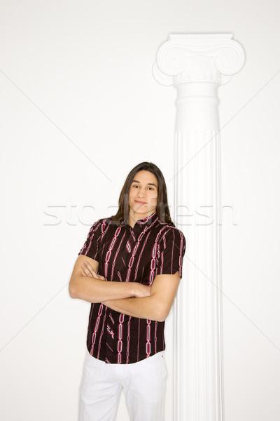 Retrato adolescente menino em pé Foto stock © iofoto