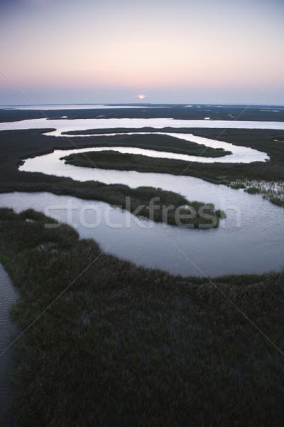Winding water in marsh. Stock photo © iofoto