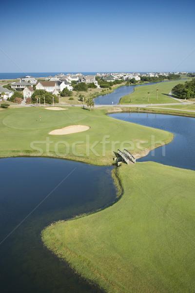 Kust golfbaan luchtfoto woon- gemeenschap kaal Stockfoto © iofoto