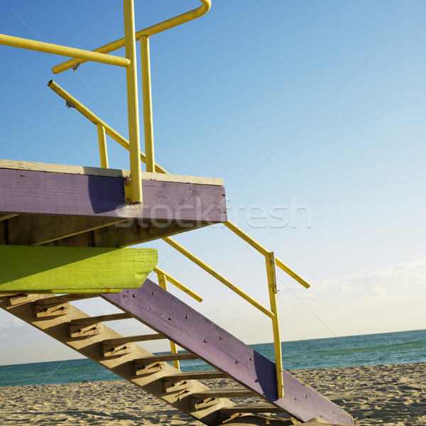 Lifeguard tower, Miami, Florida. Stock photo © iofoto
