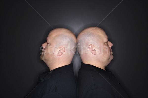 Kopasz iker férfiak kaukázusi felnőtt azonos Stock fotó © iofoto