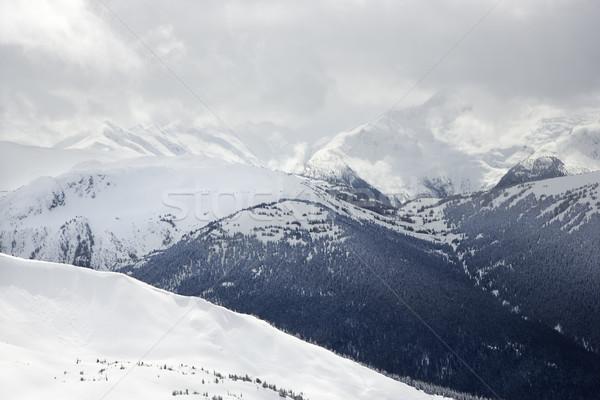 Stock photo: Moutain peaks.