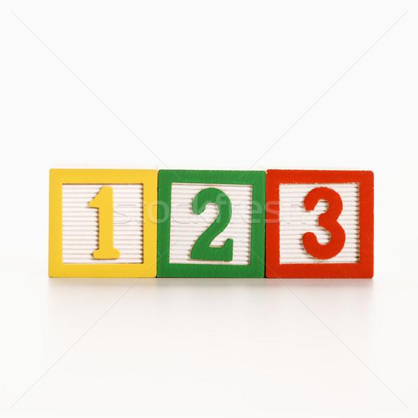 Numero blocchi fila giocattolo blocchi numeri Foto d'archivio © iofoto