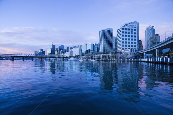 Австралия Небоскребы Сидней город моста Сток-фото © iofoto