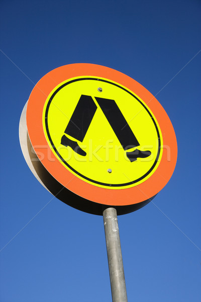 Pedestrian crossing sign. Stock photo © iofoto