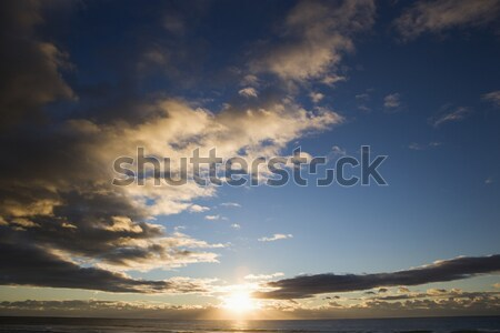 Sunset on ocean. Stock photo © iofoto