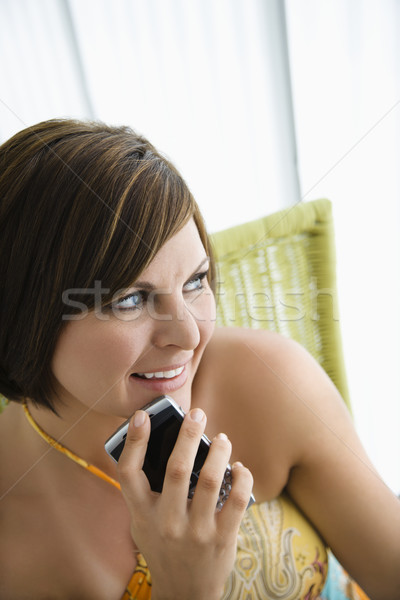 Femme pda adulte brunette Photo stock © iofoto