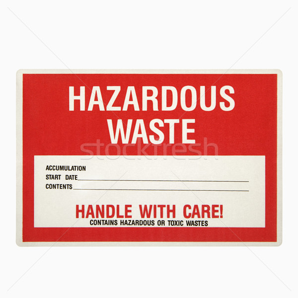 Hazardous waste sign. Stock photo © iofoto