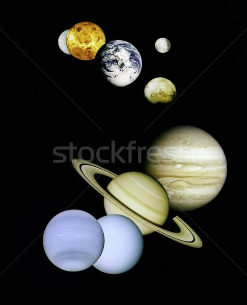 Planetas espaço exterior imagem ciência cor universo Foto stock © iofoto