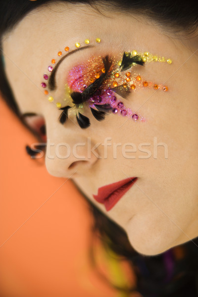 Vrouw portret kaukasisch uniek Stockfoto © iofoto