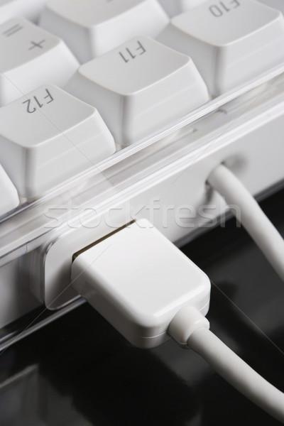 Teclado comunicação preto cor Foto stock © iofoto