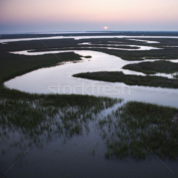 Winding water in marsh. Stock photo © iofoto