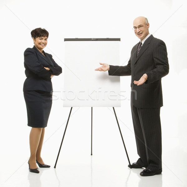 Businesspeople making presentation. Stock photo © iofoto
