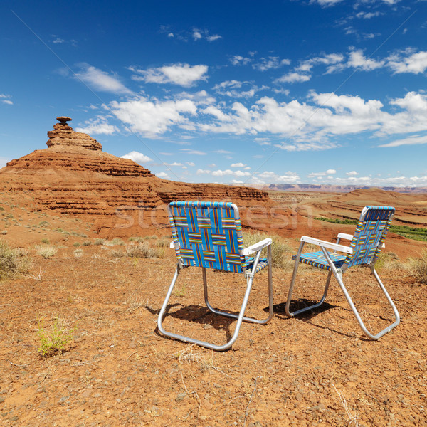 Desert scene. with chairs. Stock photo © iofoto