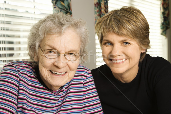 Elderly Woman and Younger Woman Stock photo © iofoto