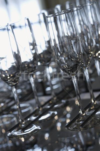 Empty glasses lined up. Stock photo © iofoto